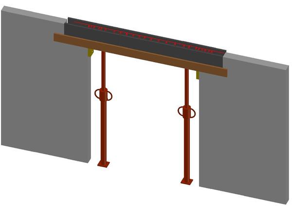coffrage de linteaux avec parpaings de chainage